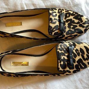 Leopard calf hair flats